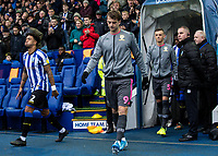 Leeds United's Patrick Bamford (centre) entering the pitch<br /> <br /> Photographer Andrew Kearns/CameraSport<br /> <br /> The EFL Sky Bet Championship - Sheffield Wednesday v Leeds United - Saturday 26th October 2019 - Hillsborough - Sheffield<br /> <br /> World Copyright © 2019 CameraSport. All rights reserved. 43 Linden Ave. Countesthorpe. Leicester. England. LE8 5PG - Tel: +44 (0) 116 277 4147 - admin@camerasport.com - www.camerasport.com