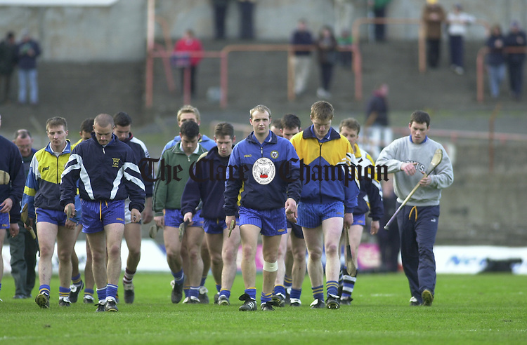 Clare hurlers including Jamesie O' Connor and Alan Markham.