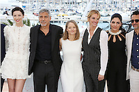 GEORGE CLOONEY JODIE FOSTER JULIA ROBERTS CAITRONA BALFE DOMINIC WEST JACK O CONELL LARA ALAMEDDINE GRANT HESLOV<br /> 69 EME FESTIVAL DE CANNES PHOTOCALL DU FILM MONEY MONSTER<br /> LE 12 05 2016