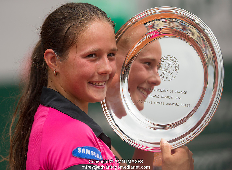 DARYA KASATKINA (RUS)<br /> <br /> Tennis - French Open 2014 -  Roland Garros - Paris -  ATP-WTA - ITF - 2014  - France -  7th June 2014. <br /> <br /> &copy; AMN IMAGES