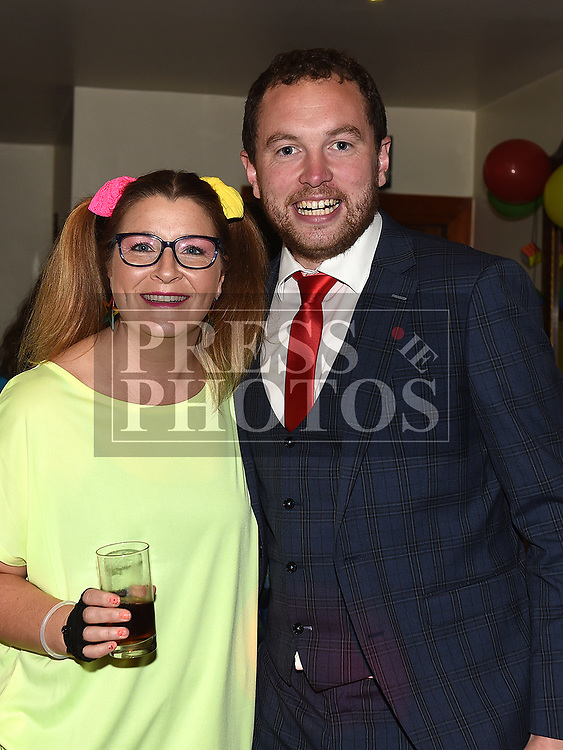 Gillian Duffy and Cllr Paddy Meade at the Oskars Night for Duleek Community facility held in the Carranstown Lodge. Photo:Colin Bell/pressphotos.ie