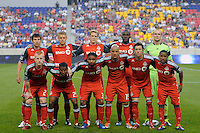 Toronto FC starting eleven. The New York Red Bulls defeated Toronto FC 5-0 during a Major League Soccer (MLS) match at Red Bull Arena in Harrison, NJ, on July 06, 2011.