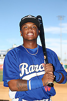 Willie Calhoun (36) of the Rancho Cucamonga Quakes poses for a photo before a game against the San Jose Giants at LoanMart Field on August 30, 2015 in Rancho Cucamonga, California. Rancho Cucamonga defeated San Jose 8-3. (Larry Goren/Four Seam Images)