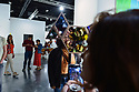 """MIAMI BEACH, FL - DECEMBER 06: Art Basel patrons look at works by Olafur Eliasson """"Your Vanishing"""" during Art Basel Miami Beach on December 06, 2019 in Miami Beach, Florida. Art Basel represents over 250 art galleries onsite at the Miami Beach Convention Center. It is considered one of the world's largest art festivals and has art events throughout the city.  ( Photo by Johnny Louis / jlnphotography.com )"""