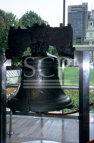 Philadelphia, USA. The Liberty Bell. A symbol for liberty worldwide with civil rights, womens right anti-racists etc.