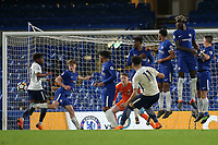 Keanan Bennetts scores Tottenham's second goal direct from a free-kick during Chelsea Under-23 vs Tottenham Hotspur Under-23, Premier League 2 Football at Stamford Bridge on 13th April 2018