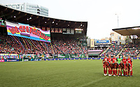 Portland, OR - Wednesday, June 27, 2018: Portland Thorns FC vs Sky Blue FC at Providence Park.