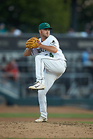 Augusta GreenJackets relief pitcher Matt Seelinger (54) in action against the Kannapolis Intimidators at SRG Park on July 6, 2019 in North Augusta, South Carolina. The Intimidators defeated the GreenJackets 9-5. (Brian Westerholt/Four Seam Images)