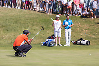 S.S.P. Chawrasia (IND) on the 18th green during the third round of the Mutuactivos Open de Espana, Club de Campo Villa de Madrid, Madrid, Madrid, Spain. 05/10/2019.<br /> Picture Hugo Alcalde / Golffile.ie<br /> <br /> All photo usage must carry mandatory copyright credit (© Golffile | Hugo Alcalde)