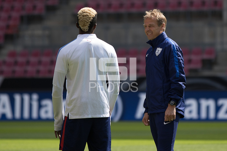Cologne, Germany - June 9, 2015: The USMNT train in preparation for their international friendly match vs Germany at Rhein Energie Stadion.