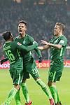 13.01.2018, Weser Stadion, Bremen, GER, 1.FBL, Werder Bremen vs TSG 1899 Hoffenheim, im Bild<br /> <br /> Jubel <br /> Theodor Gebre Selassie (Werder Bremen #23)<br /> Zlatko Junuzovic (Werder Bremen #16)<br /> Max Kruse (Werder Bremen #10)<br /> Foto &copy; nordphoto / Kokenge