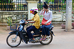 Riding To Work Sidesaddle On Motorbike 'No Hands'