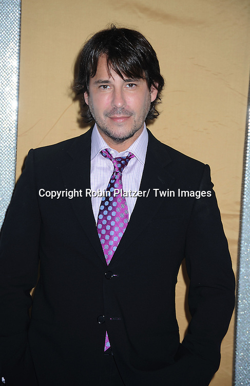 "actor  Ricky Paull Goldin posing for photographers at the world premiere of ""Sex and the City 2"" on May 24, 2010 at Radio City Music Hall in New York City."