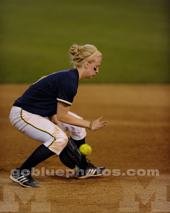 University of Michigan softball 5-2 victory over Cal State Fullerton 5-2 at the Judi Garman Classic in Fullerton, CA, on March 17, 2011
