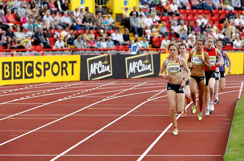 Photo: Richard Lane/Richard Lane Photography..Aviva British Grand Prix. 31/08/2009. On Camp with Kelly women's 800m.