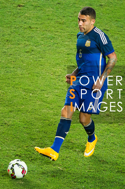 Nicolas Otamendi of Argentina in action during the HKFA Centennial Celebration Match between Hong Kong vs Argentina at the Hong Kong Stadium on 14th October 2014 in Hong Kong, China. Photo by Chung Yan / Power Sport Images