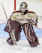 Corinne Boyles (BC - 29) - The Boston College Eagles defeated the visiting University of Maine Black Bears 5 to 1 on Sunday, October 6, 2013, in their Hockey East season opener at Kelley Rink in Conte Forum in Chestnut Hill, Massachusetts.