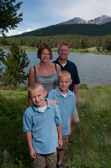 Paulman family,  portrait, Rocky Mountain  National Park, Colorado, USA