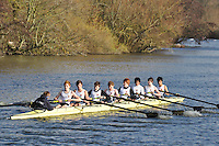 073 .SHR-1 .J15A.8+ .Royal Shrewsbury Sch. Wallingford Head of the River. Sunday 27 November 2011. 4250 metres upstream on the Thames from Moulsford railway bridge to Oxford Universitiy's Fleming Boathouse in Wallingford. Event run by Wallingford Rowing Club..