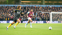 30th October 2019; Villa Park, Birmingham, Midlands, England; English Football League Cup, Carabao Cup, Aston Villa versus Wolverhampton Wanderers; Dion Sanderson of Wolverhampton Wanderers chasing down a loose ball - Strictly Editorial Use Only. No use with unauthorized audio, video, data, fixture lists, club/league logos or 'live' services. Online in-match use limited to 120 images, no video emulation. No use in betting, games or single club/league/player publications