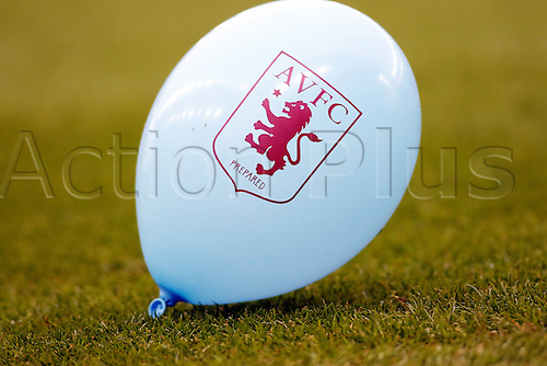 27.02.2016. Britannia Stadium, Stoke, England. Barclays Premier League. Stoke City versus Aston Villa. An Aston Villa balloon makes its way onto the field