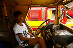 Ile de Coron dans l'archipel de Calamian. Philippines.Le jeepney est le moyen de transport public le plus répandu aux Philippines.