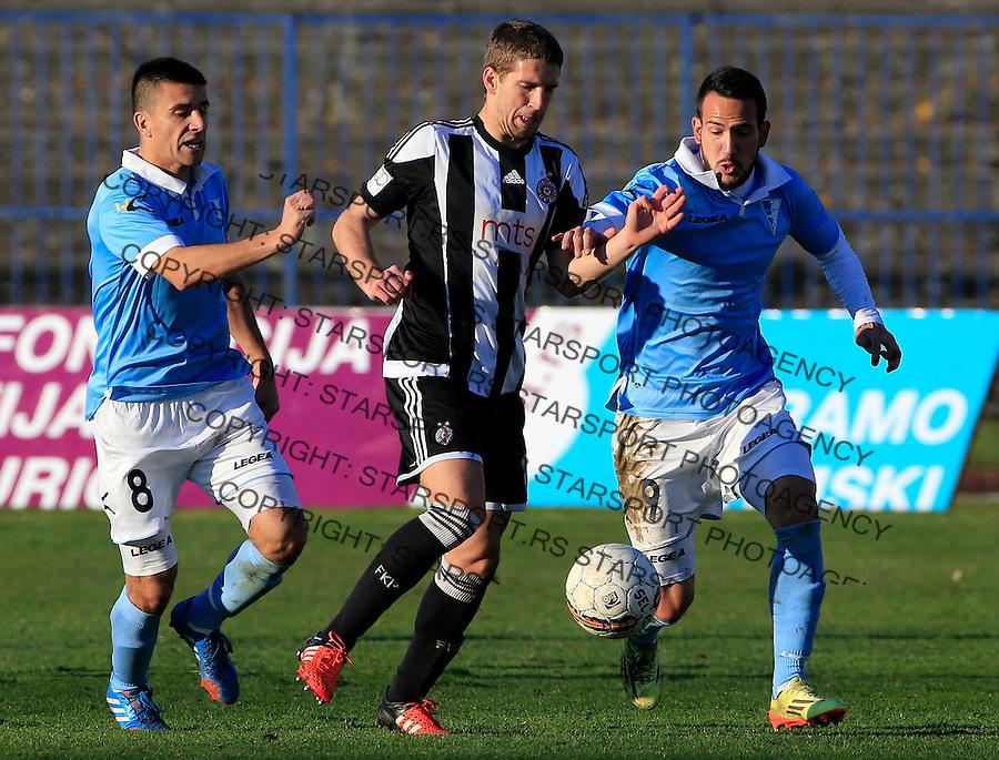 Fudbal Jelen Super League season 2015-2016<br /> Spartak v Partizan<br /> Darko Brasanac (C) Andrej Mrkela (R) and Vladimir Torbica (L)<br /> Subotica, 29.11.2015.<br /> foto: Srdjan Stevanovic/Starsportphoto&copy;