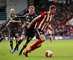 Chris Basham of Sheffield Utd and Ondrej Duda of Norwich City during the Premier League match at Bramall Lane, Sheffield. Picture date: 7th March 2020. Picture credit should read: Simon Bellis/Sportimage