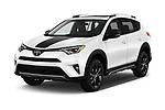 2018 Toyota RAV4 Adventure 5 Door SUV angular front stock photos of front three quarter view