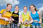 Hammer throwers Sinead Warren Gneeveguilla, Leanne Cronin Farranfore/Maine Valley, Mairead O'Neill Gneeveguilla and Lauren O'Grady at the Kerry Senior Track and Field Championships in Castleisland on sunday