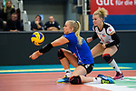 18.11.2018, Halle Berg Fidel, Muenster<br />Volleyball, Bundesliga Frauen, Normalrunde, USC MŸnster / Muenster vs. VfB Suhl Lotto ThŸringen / Thueringen<br /><br />Annahme Anniek Siebring (#8 Suhl)<br /><br />  Foto &copy; nordphoto / Kurth
