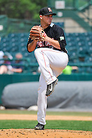 Matthew Summers (25) of the New Britain Rock Cats delivers a pitch during a game against the Altoona Curve at New Britain Stadium on June 25, 2014 in New Britain, Connecticut.  New Britain defeated Altoona 3-1.  (Gregory Vasil/Four Seam Images)