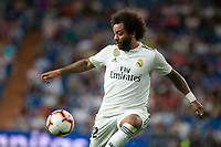 Marcelo Vieira of Real Madrid during the match between Real Madrid v Getafe CF of LaLiga, 2018-2019 season, date 1. Santiago Bernabeu Stadium. Madrid, Spain - 19 August 2018. Mandatory credit: Ana Marcos / PRESSINPHOTO