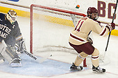 Chris Calnan (BC - 11) tied the game at 1. - The Boston College Eagles defeated the University of Notre Dame Fighting Irish 6-4 (EN) on Saturday, January 28, 2017, at Kelley Rink in Conte Forum in Chestnut Hill, Massachusetts.The Boston College Eagles defeated the University of Notre Dame Fighting Irish 6-4 (EN) on Saturday, January 28, 2017, at Kelley Rink in Conte Forum in Chestnut Hill, Massachusetts.