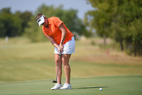 Brittany Lang (USA) watches her putt on 10 during the round 2 of the Volunteers of America Texas Classic, the Old American Golf Club, The Colony, Texas, USA. 10/4/2019.<br /> Picture: Golffile | Ken Murray<br /> <br /> <br /> All photo usage must carry mandatory copyright credit (© Golffile | Ken Murray)