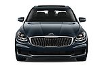 Car photography straight front view of a 2019 KIA K900 Luxury 4 Door Sedan Front View