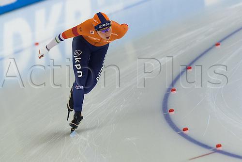 January 29th 2017, Sportforum, Berlin, Germany; ISU Speed Skating World Cup;  ISU Speed Skating World Cup , 3000m Division A; Antoinette de Jong (NED)