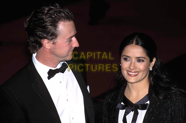 ED NORTON & SALMA HAYEK.at the British Academy Film & Television Awards, (Bafta Awards 2003) Odeon, Leicester Square.Ref: AH.www.capitalpictures.com.sales@capitalpictures.com.© Capital Pictures