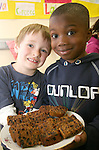Aston Village Students, Dylan and Ayo at their International Food Day in connection with Louth Leader Partnership...Photo NEWSFILE/Jenny Matthews.(Photo credit should read Jenny Matthews/NEWSFILE)....This Picture has been sent you under the condtions enclosed by:.Newsfile Ltd..The Studio,.Millmount Abbey,.Drogheda,.Co Meath..Ireland..Tel: +353(0)41-9871240.Fax: +353(0)41-9871260.GSM: +353(0)86-2500958.email: pictures@newsfile.ie.www.newsfile.ie.FTP: 193.120.102.198.