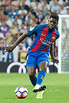 Samuel Umiti of FC Barcelona during the match of La Liga between Real Madrid and Futbol Club Barcelona at Santiago Bernabeu Stadium  in Madrid, Spain. April 23, 2017. (ALTERPHOTOS)