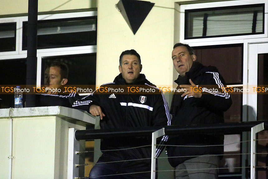 New Fulham coach, Jonathan Hill, with manager, Rene Meulensteen - Fulham Under-21 vs Everton Under-21 - Barclays Under-21 Premier League Football at Motspur Park, New Malden, Surrey - 02/12/13 - MANDATORY CREDIT: Paul Dennis/TGSPHOTO - Self billing applies where appropriate - 0845 094 6026 - contact@tgsphoto.co.uk - NO UNPAID USE