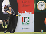 Adam Scott tees off on the 9th tee during  Day 2 at the Dubai World Championship Golf in Jumeirah, Earth Course, Golf Estates, Dubai  UAE, 20th November 2009 (Photo by Eoin Clarke/GOLFFILE)