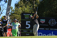 James Nitties (AUS) in action on the 5th during the Matchplay Final of the ISPS Handa World Super 6 Perth at Lake Karrinyup Country Club on the Sunday 11th February 2018.<br /> Picture:  Thos Caffrey / www.golffile.ie<br /> <br /> All photo usage must carry mandatory copyright credit (&copy; Golffile | Thos Caffrey)