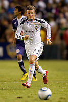 LA Galaxy midfielder David Beckham moves to the ball. The New York Red Bulls beat the LA Galaxy 2-0 at Home Depot Center stadium in Carson, California on Friday September 24, 2010.