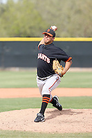 Edwin Quirate, San Francisco Giants 2010 minor league spring training..Photo by:  Bill Mitchell/Four Seam Images.