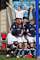 Millwall celebrate their opening goal scored by George Saville during Millwall vs Brentford, Sky Bet EFL Championship Football at The Den on 10th March 2018
