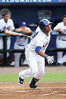 St. Lucie Mets outfielder Juan Lagares #13 during a game against the Charlotte Stone Crabs at Digital Domain Ballpark on June 20, 2011 in Port St Lucie, Florida.  St. Lucie defeated Charlotte 3-2 in 11 innings.  (Mike Janes/Four Seam Images)