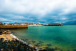 St Ives town from the sea