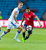 June 10th 2017, Ullevaal Stadion, Oslo, Norway; World Cup 2018 Qualifying football, Norway versus Czech Republic;  Tarik Elyounoussi  of Norway in action during the FIFA World Cup qualifying match