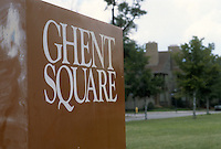 1982 July ..Redevelopment.East Ghent..GHENT SQUARE SIGN...NEG#.NRHA#..